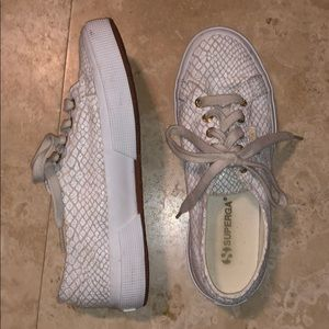 superga snake skin sneakers